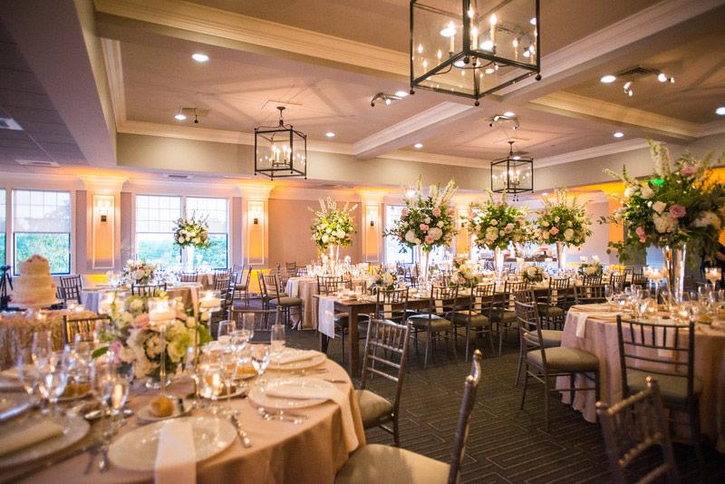 Indoor Wedding Reception At Harbor Lights