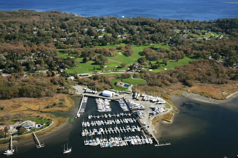 Overhead shot of the marina.